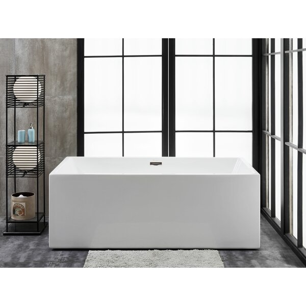 Verona 58 L x 32 W Freestanding Soaking Bathtub by Finesse