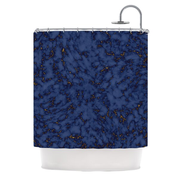 Marble by Will Wild Abstract Shower Curtain by East Urban Home