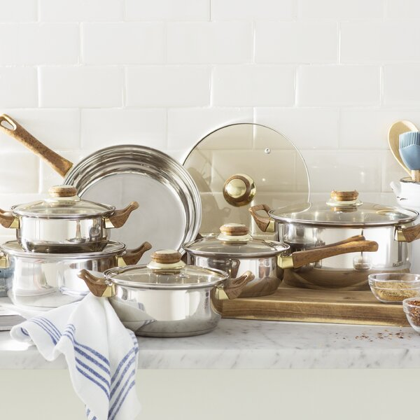 Wayfair Basics 12 Piece Stainless Steel Cookware Set by Wayfair Basics™