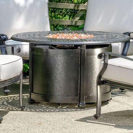 Lisbon Aluminum Propane Fire Pit Table by Alfresco Home