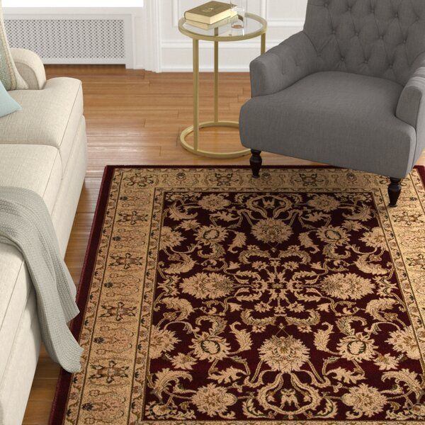 Mira Monte Burgundy/Tan Area Rug by Astoria Grand