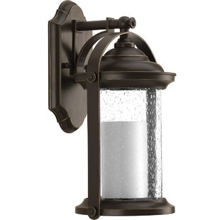 Compare prices Audubon LED Wall Lantern By Breakwater Bay