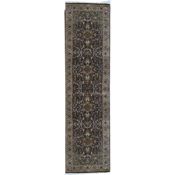 Hand Knotted Wool Brown Rug