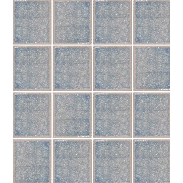 Oceanz 3 x 3 Glass Mosaic Tile in Blue by Epoch Architectural Surfaces