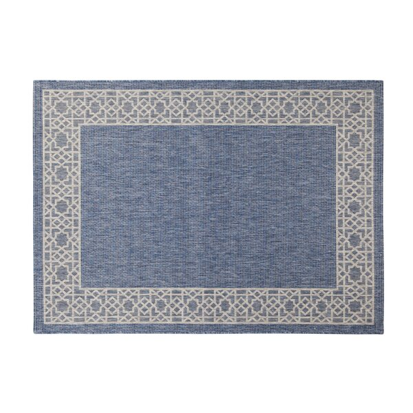 Selina Navy/Gray Indoor/Outdoor Area Rug by Breakwater Bay
