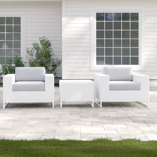 Menifee 3 Piece Seating Group with Cushions by Sol 72 Outdoor