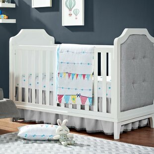Deals Tutalo Upholstered 3-in-1 Convertible Crib ByMack & Milo