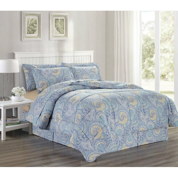 Krugerville Printed Bed Comforter Set by Charlton Home