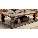 Coraline Solid Wood Floor Shelf Coffee Table with Storage by One Allium Way®