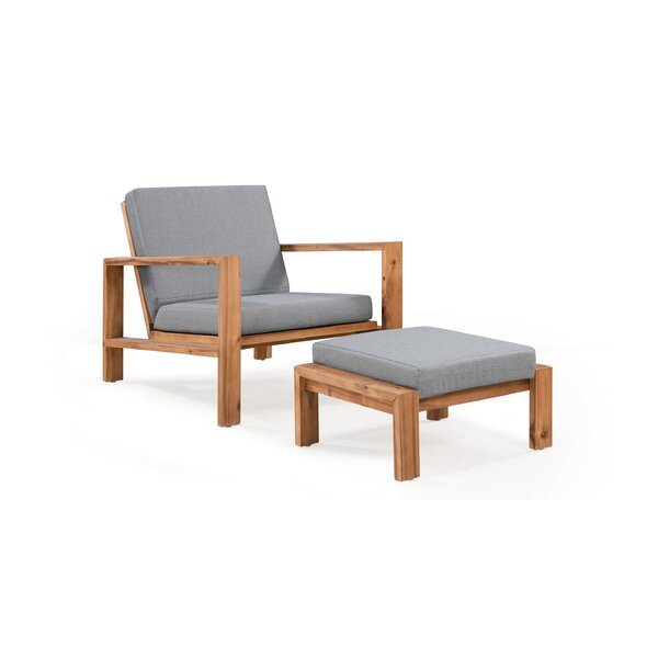 Congdon 2 Piece with Cushions by Rosecliff Heights
