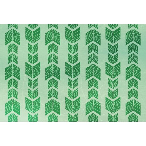 Debarr Green Area Rug by Bungalow Rose