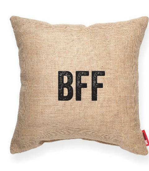 Pettis Best Friends Forever Throw pillow by Wrought Studio