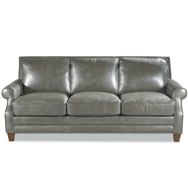 Modern Collection Mirto Leather Sofa by Westland and Birch by Westland and Birch
