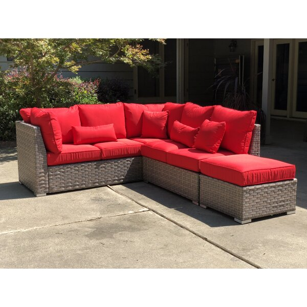 Nioka 3 Piece Sectional Seating Group with Cushions by Wrought Studio
