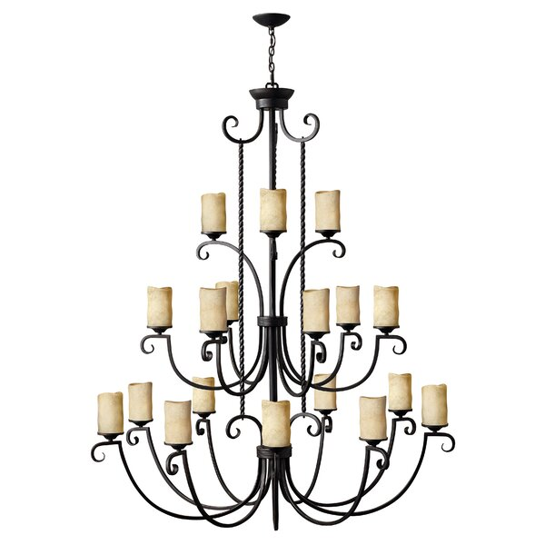 Jamar 18 - Light Shaded Tiered Chandelier By Darby Home Co