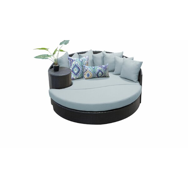 Medley Patio Daybed with Cushion by Rosecliff Heights