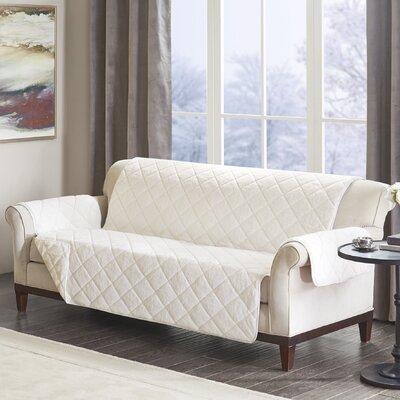 Floral Cotton Printed Reversible Box Cushion Sofa Slipcover