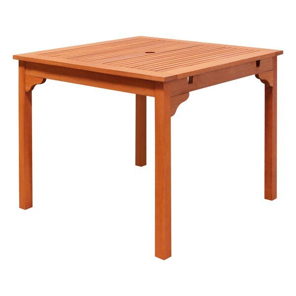 Amabel Wooden Dining Table by Beachcrest Home