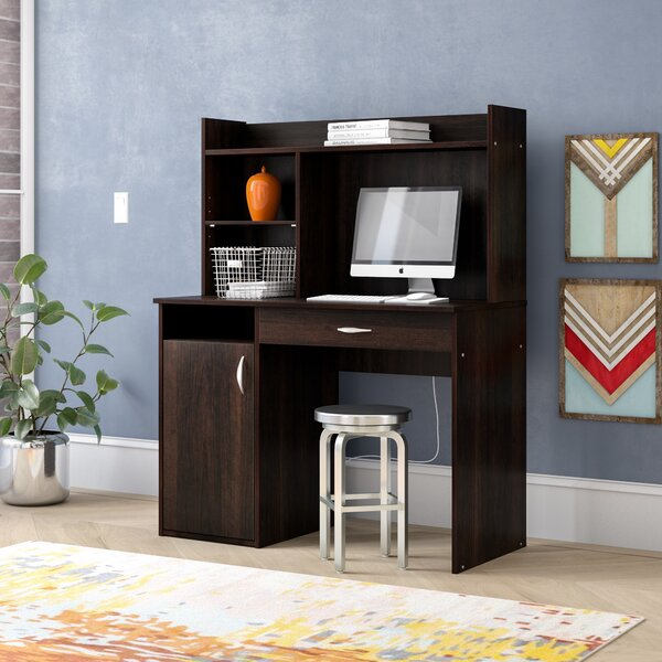 Everett Computer Desk with Hutch by Zipcode Design