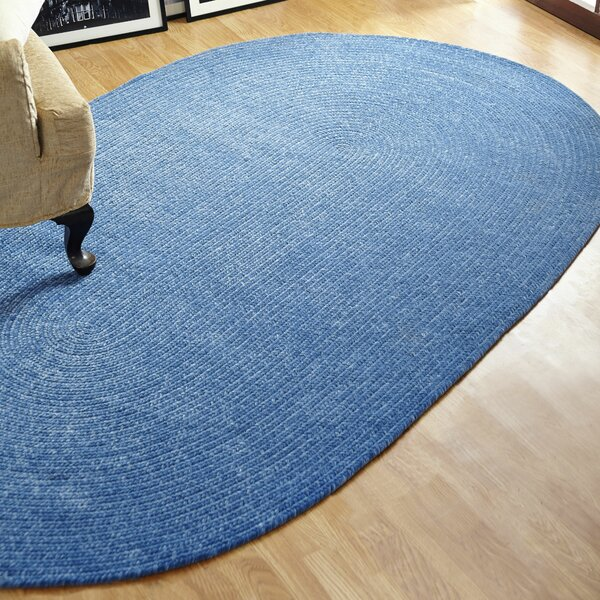 Chenille Reversible Blue Indoor/Outdoor Area Rug by Better Trends