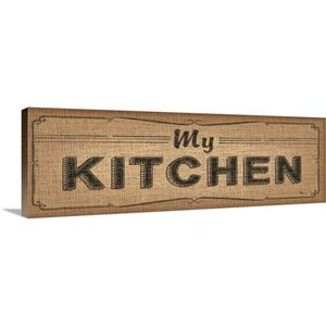 La Cuisine Burlap IV Textual Art on Wrapped Canvas by Great Big Canvas