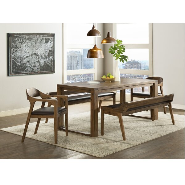 Bourgoin 5 Piece Drop Leaf Solid Wood Dining Set by Foundry Select Foundry Select