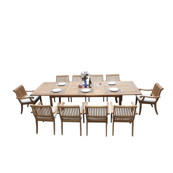 Masten 11 Piece Teak Dining Set