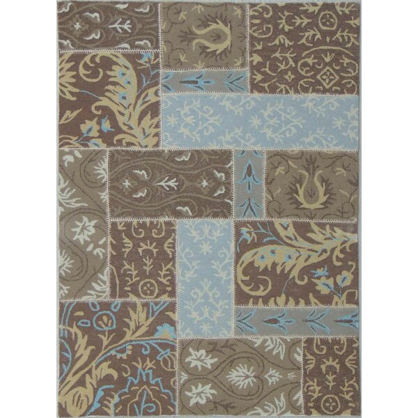 Patchwork Mid Brown Area Rug by American Cover Designs