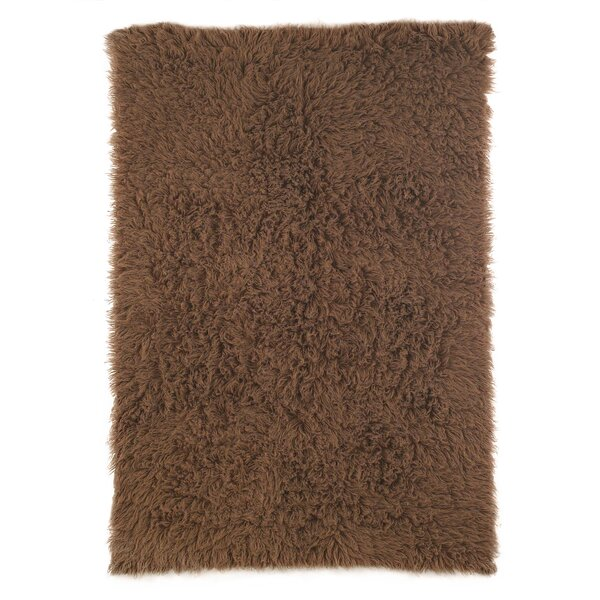 Flokati Wool Chocolate Area Rug by nuLOOM