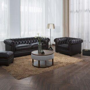 2 Piece Leather Living Room Set by Simon Li