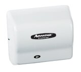 Advantage Standard 100 - 240 Volt Hand Dryer in White by American Dryer