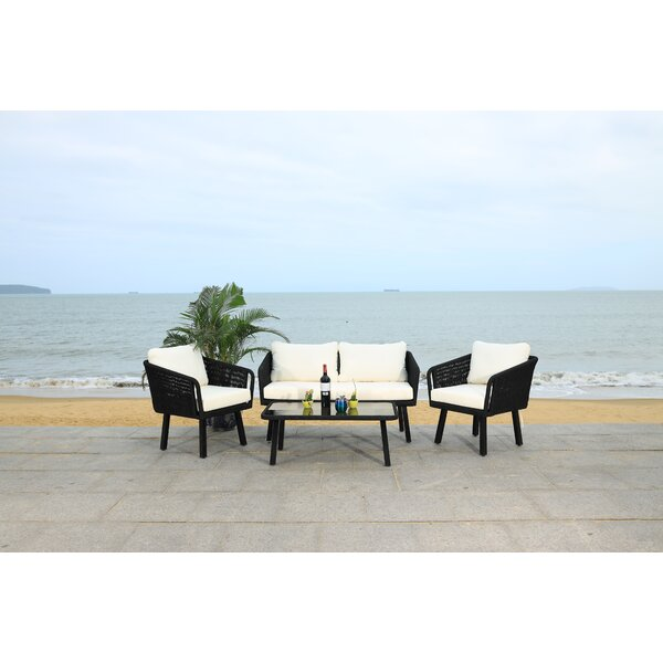 Kerson 4 Piece Sofa Seating Group with Cushions by Latitude Run