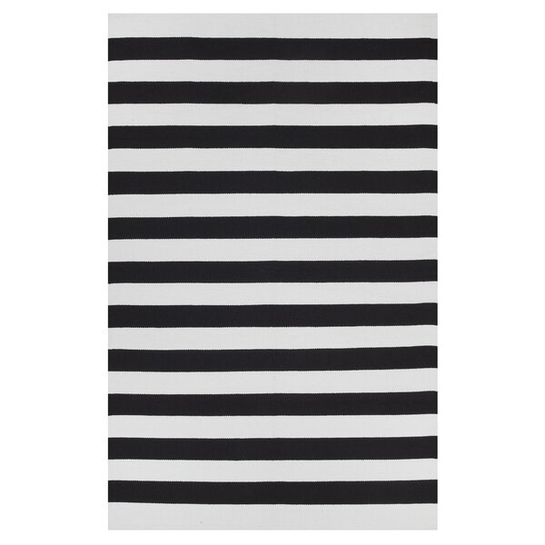 Anniedale Hand-Woven Cotton Black/White Area Rug by Longshore Tides