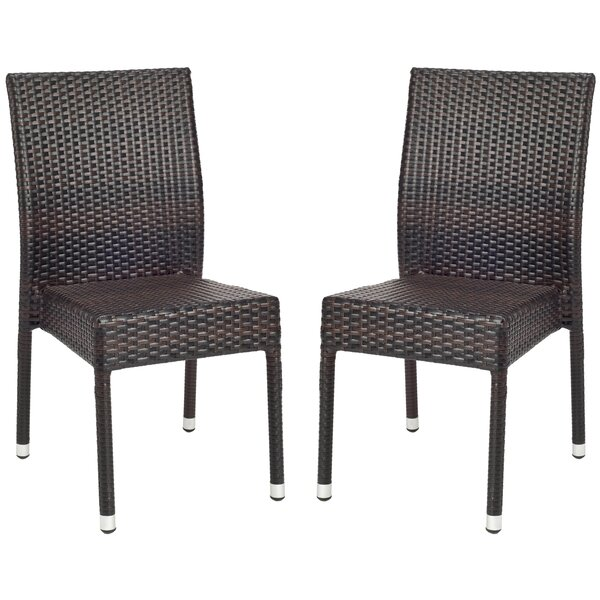 Sheeran Stacking Patio Dining Chair (Set of 2) by Wrought Studio Wrought Studio