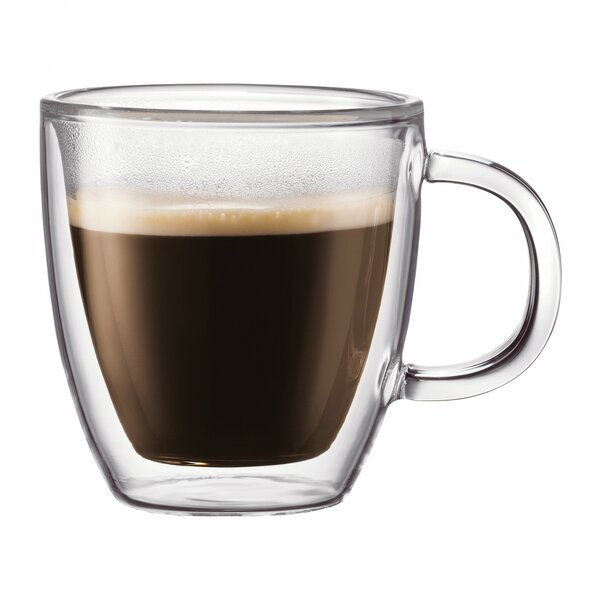 Bistro Double Wall Coffee Mug (Set of 6) by Bodum