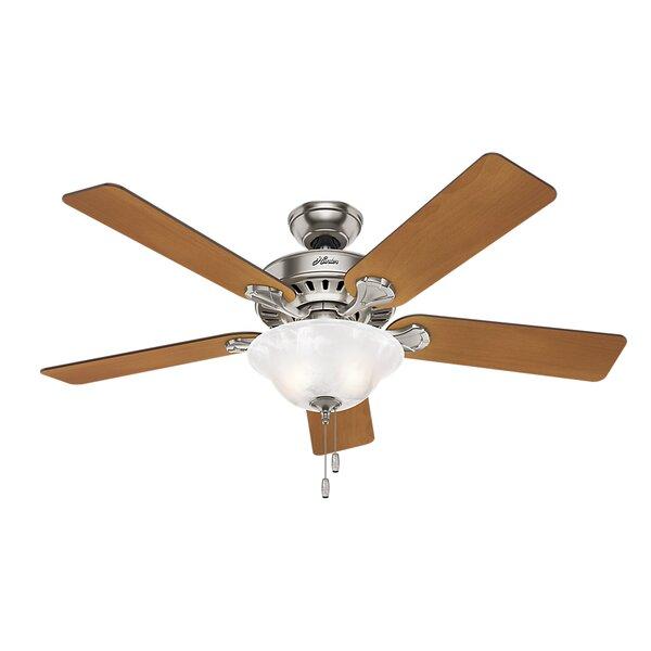 52 Buchanan 5 Blade Ceiling Fan with Light by Hunter Fan