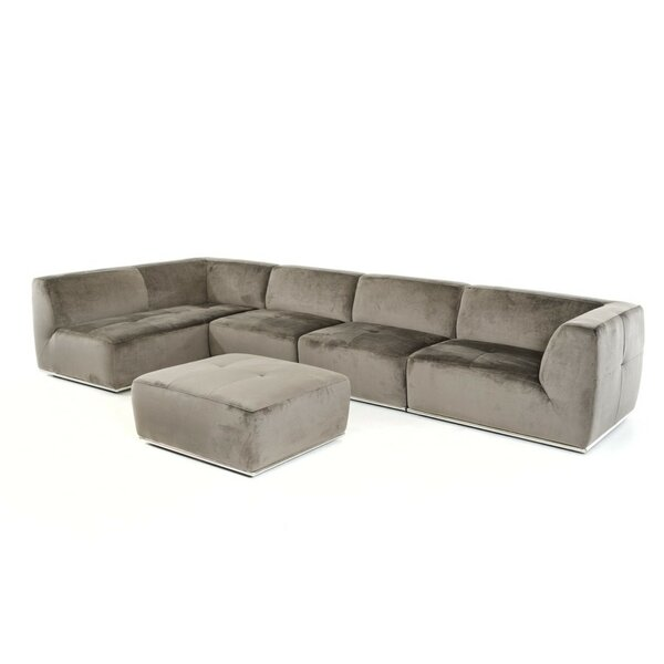 Alsatia 143'' Modular Sectional With Ottoman By Wade Logan