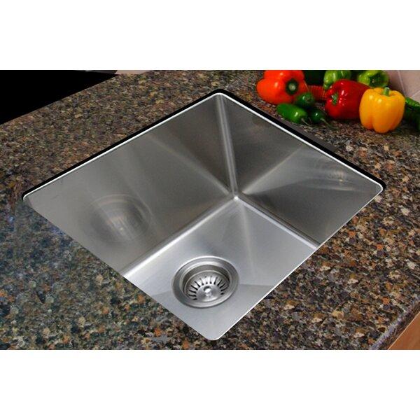 17.75 L x 15.375 W Undermount Single Bowl Stainless Steel Kitchen Sink by Ukinox