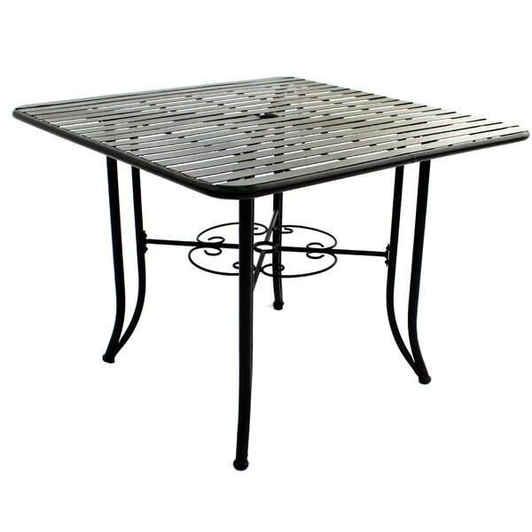 Romona Powder Coated Steel Dining Table By Fleur De Lis Living by Fleur De Lis Living Sale