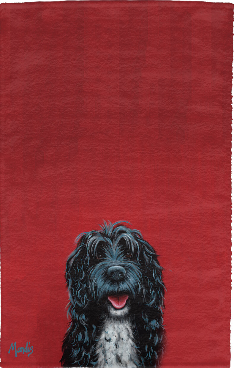 Portuguese Water Dog 2 Portuguese Water Dog Embroidered Towels