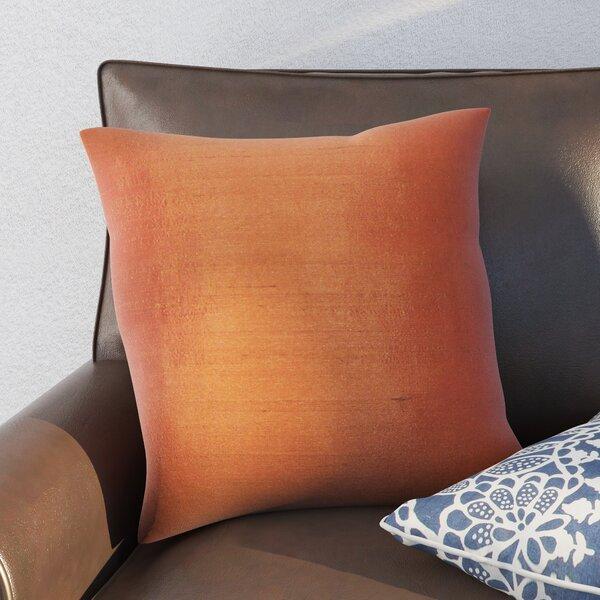 Najar Plain Silk Throw Pillow by World Menagerie