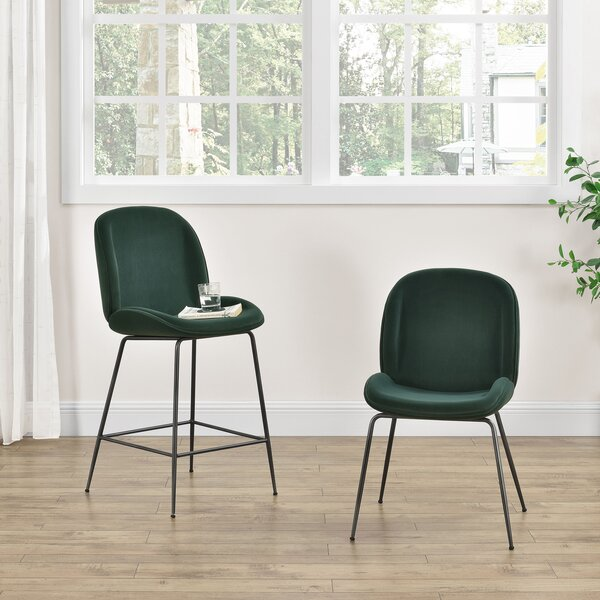 Holstein Upholstered Dining Chair (Set of 2) by Wrought Studio