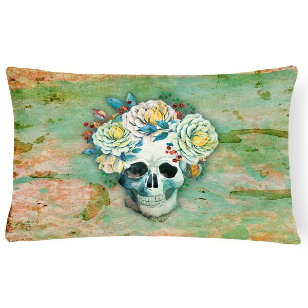 Day of the Dead Skull Lumbar Pillow by East Urban Home
