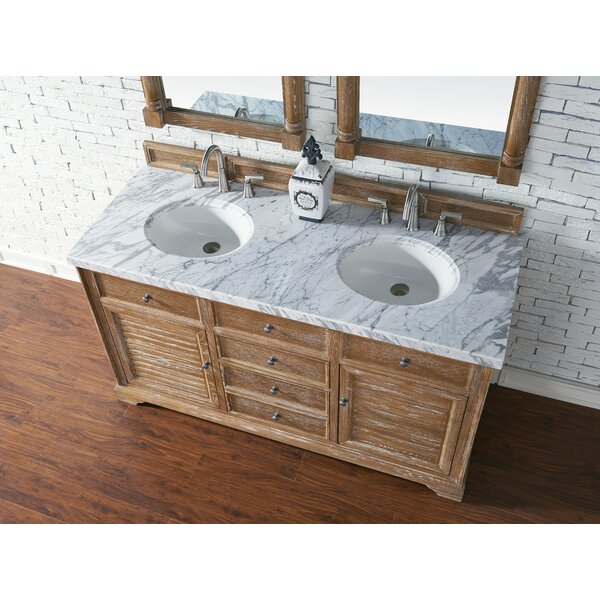 Osmond 60 Double Driftwood Bathroom Vanity Set by Greyleigh