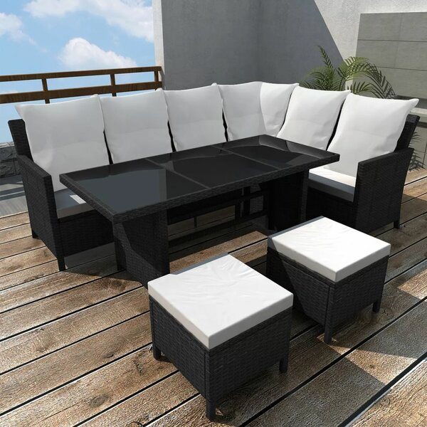 Swanage Garden 4 Piece Sectional Seating Group with Cushions by Ivy Bronx