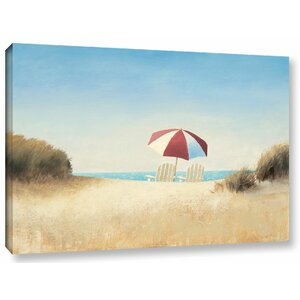 'Morning Beach Panel I' Painting Print on Wrapped Canvas by Highland Dunes
