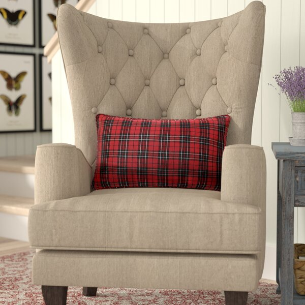 Mikayda Holiday Plaid Lumbar Pillow by Gracie Oaks