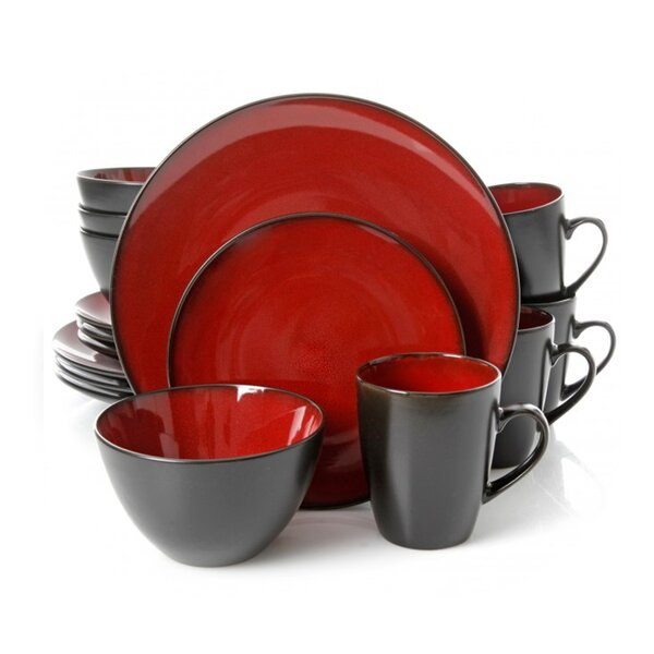 Gibson Soho Lounge Round 16 Piece Dinnerware Set, Service for 4 by Gibson Home