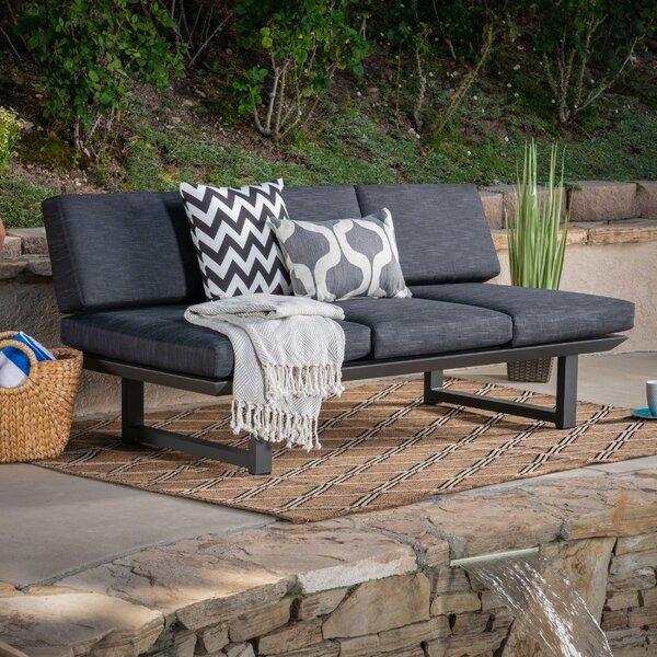 Lobdell Patio Sofa with Cushions by Latitude Run Latitude Run