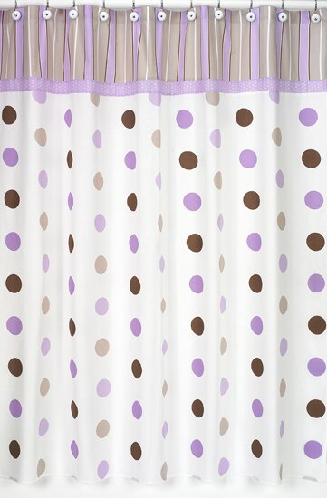 Mod Dots Cotton Shower Curtain by Sweet Jojo Designs